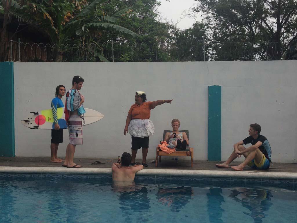 Friends away from home in El Salvador