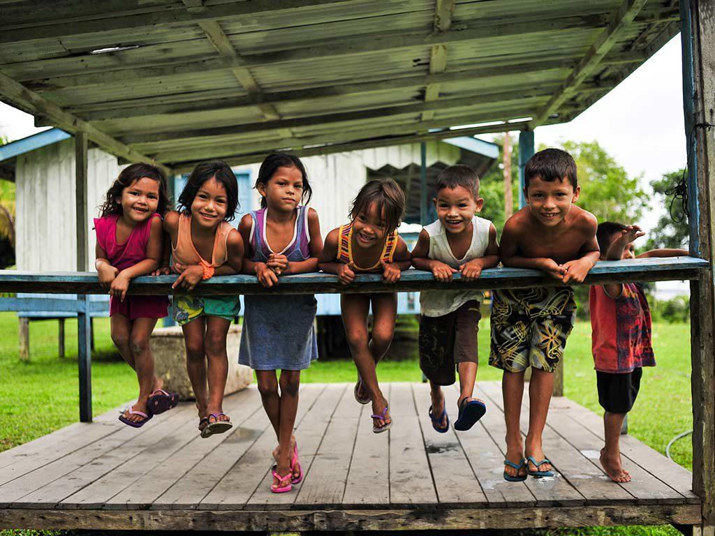 children the amazon brazil