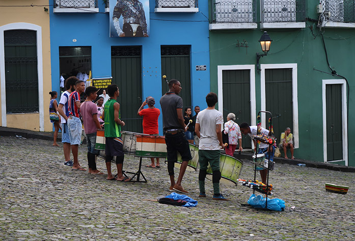 pelourinho district music drums salvador brazil