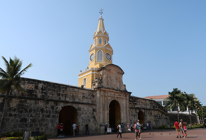 walled city of cartagena entrance