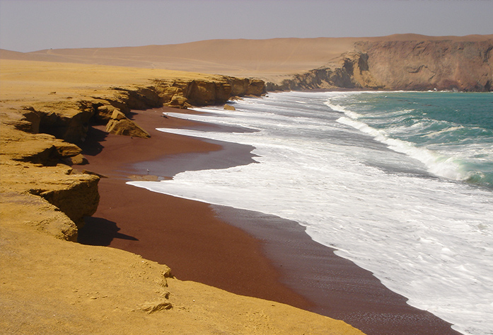 beaches peru playa roja