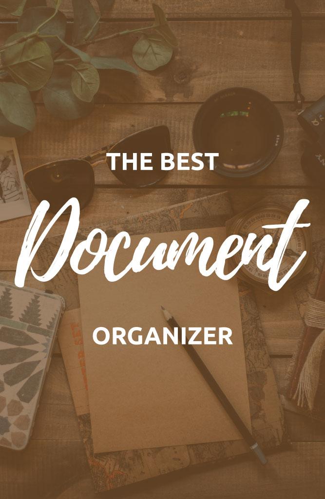 the best travel document organizer