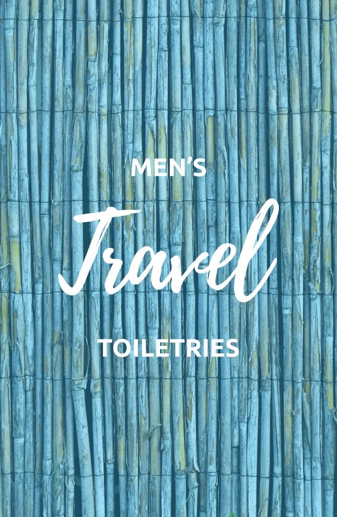 travel toiletries for men