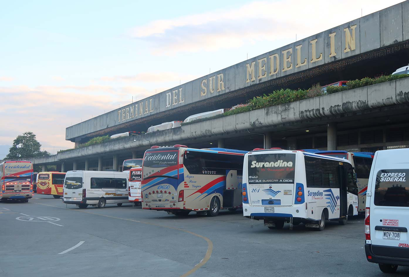 medellin south bus terminal to cali