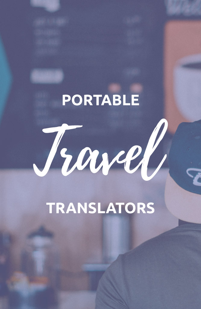 portable translator for travel