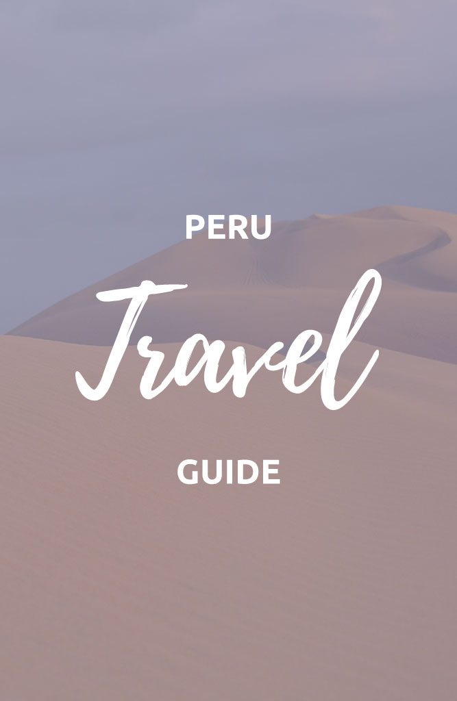 backpacking peru tourist attractions