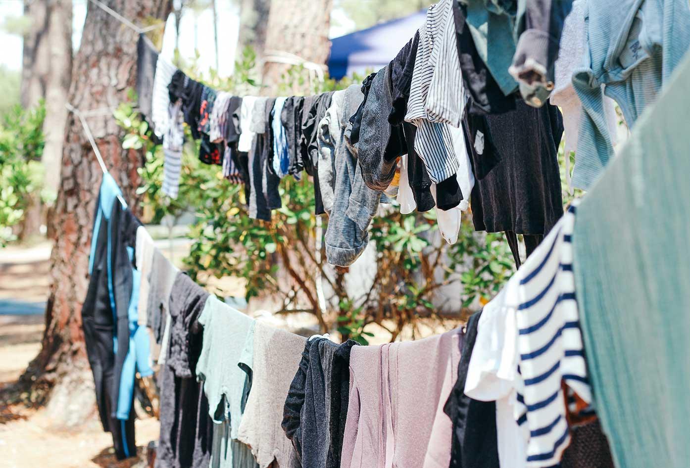 travel laundry hanging