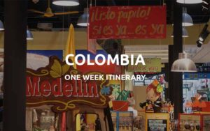 one week colombia trip