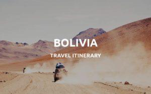 bolivia itinerary