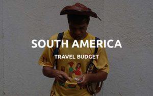 south america travel budget