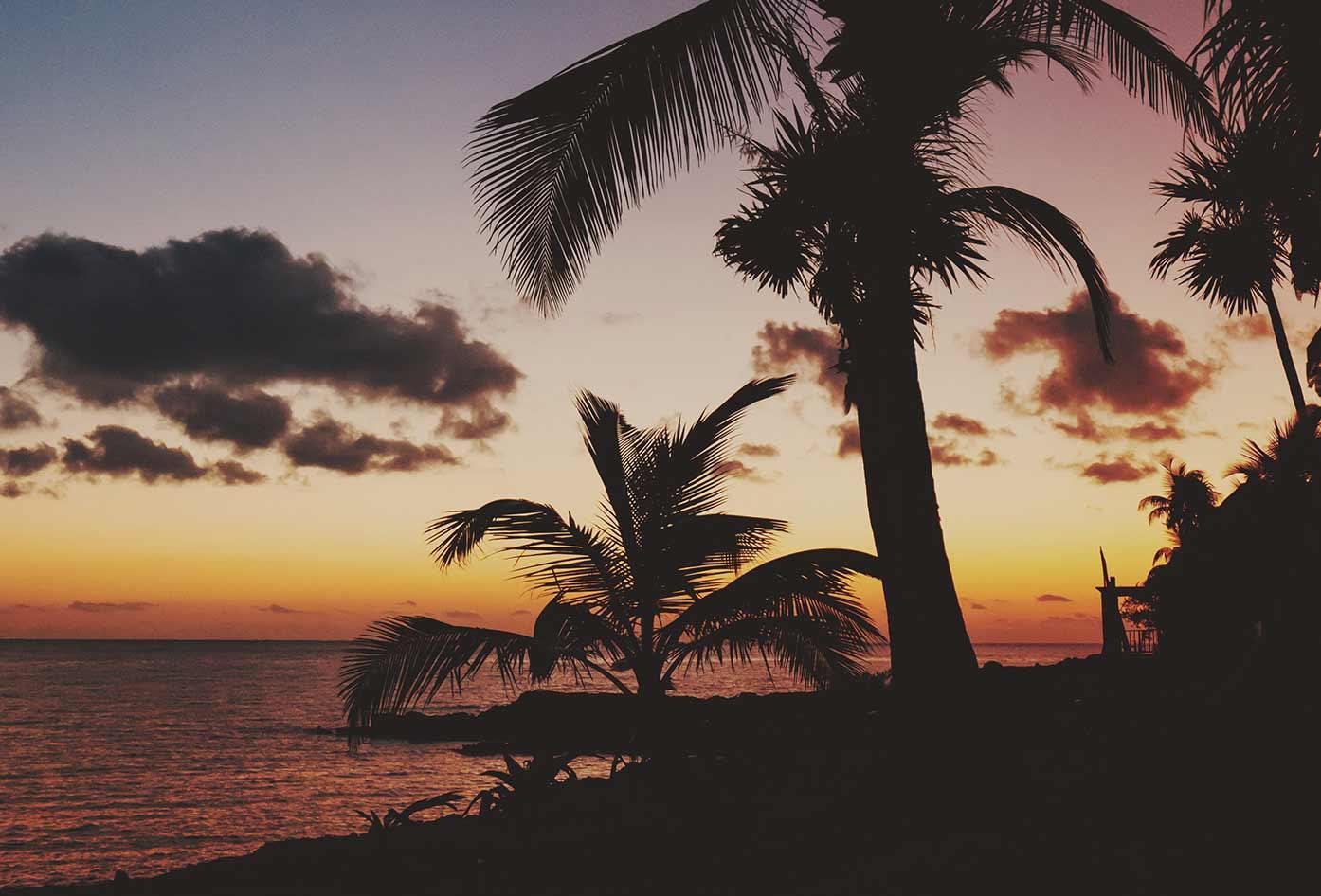akumal beach sunset mexico