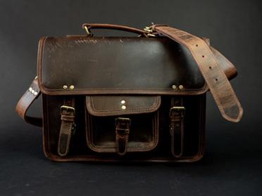 buffalo leather laptop bag