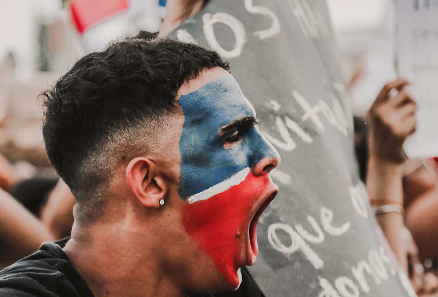dominican man protest