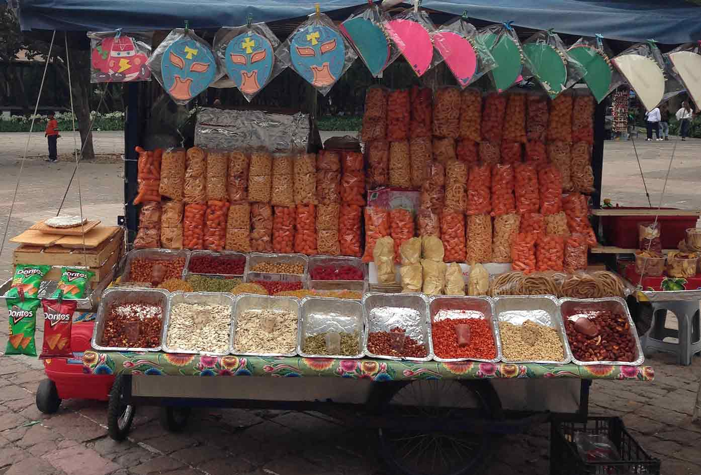 mexico city street food stand