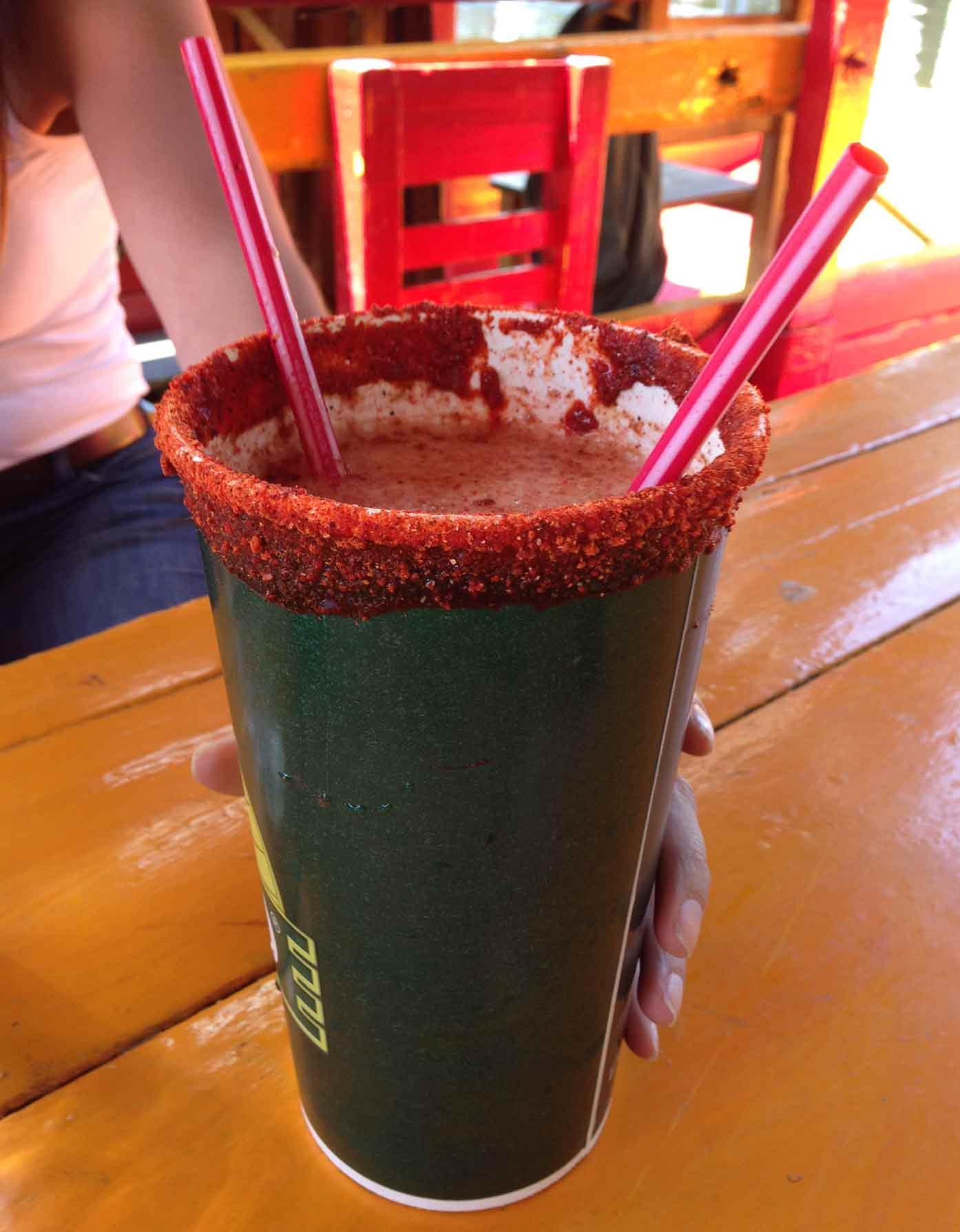 micheladas at xochimilco