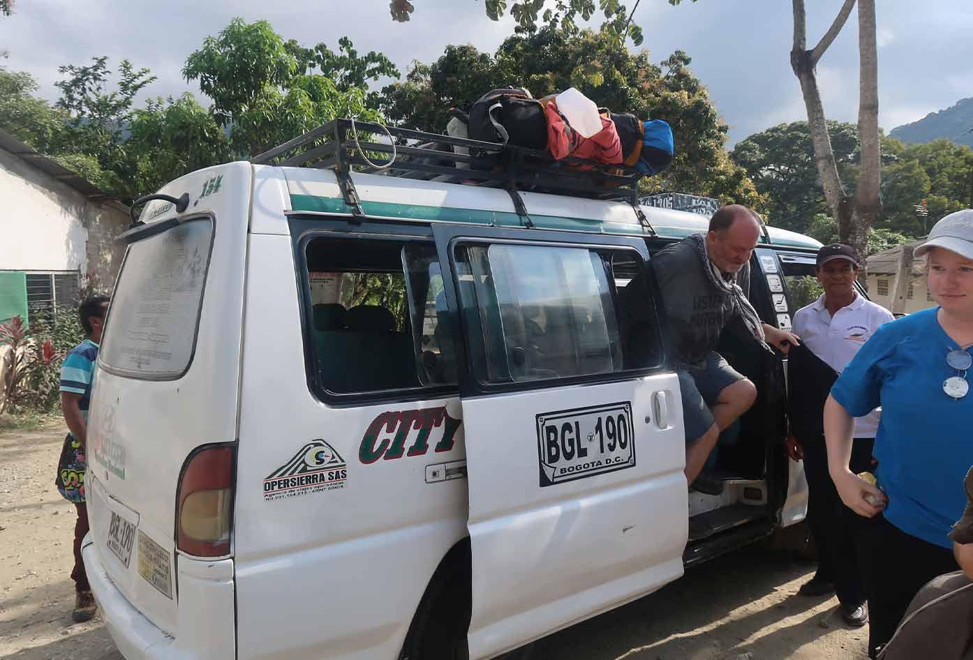 arriving in minca from santa marta