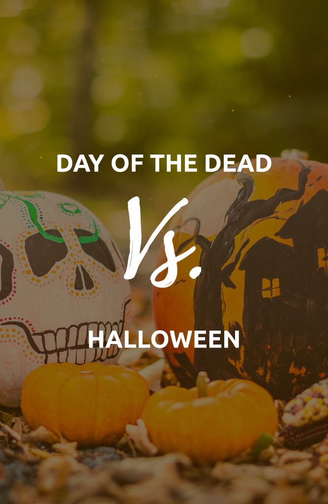 day of the dead vs halloween