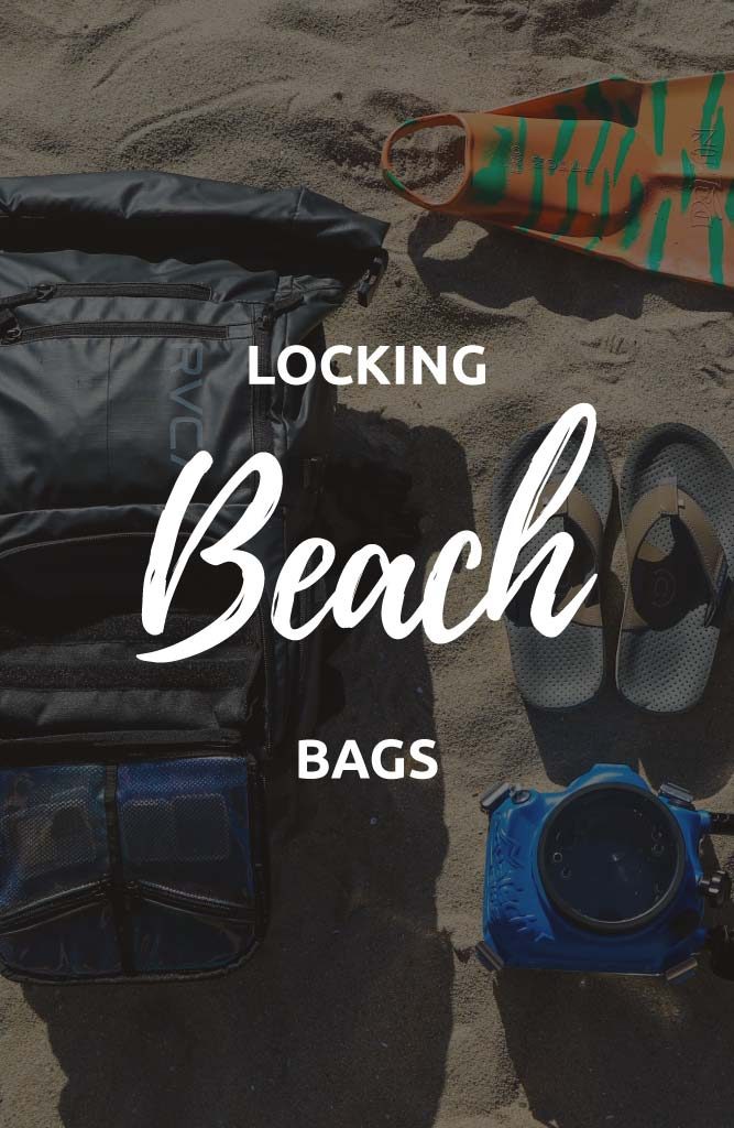 locking beach bag