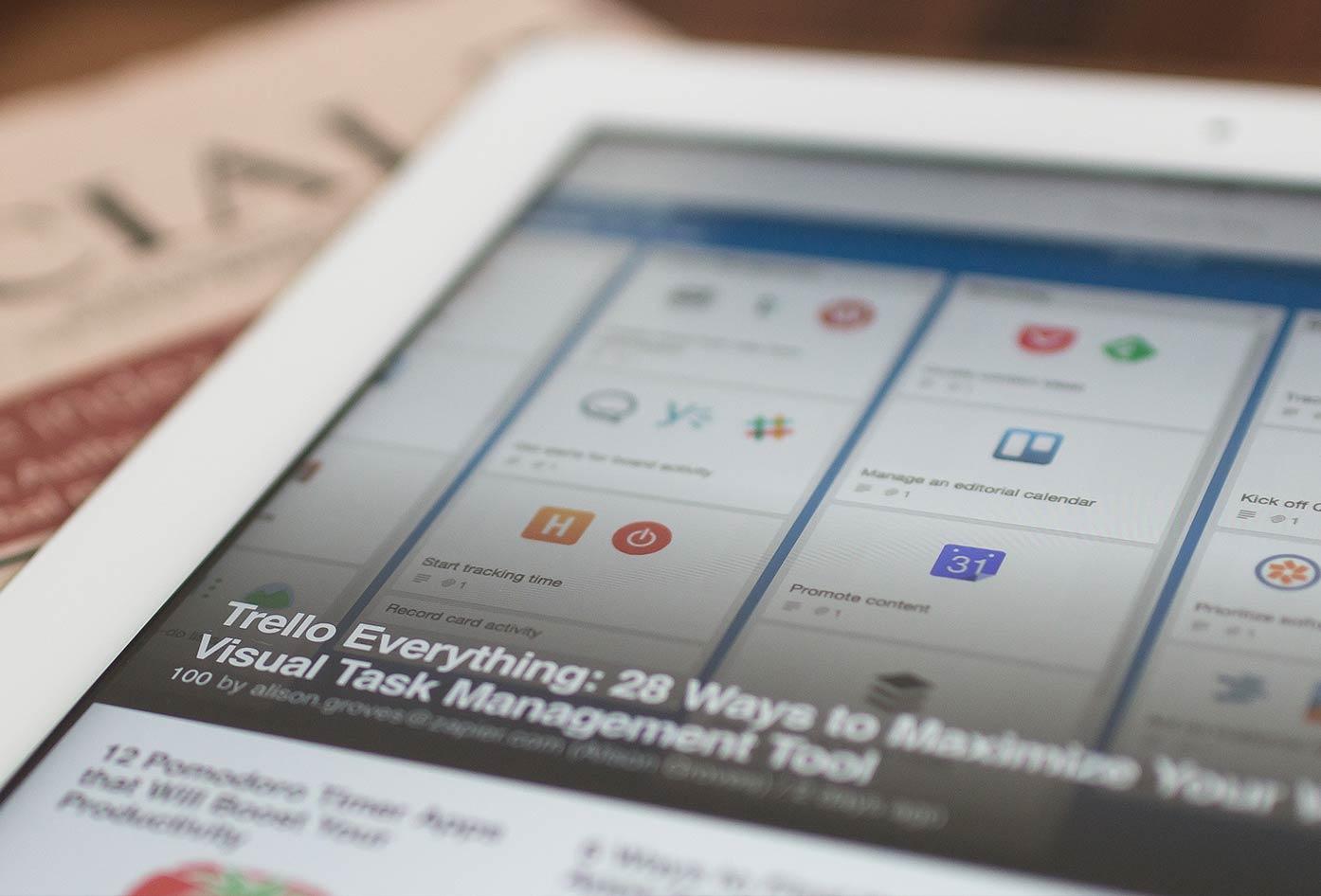 tablet blogging