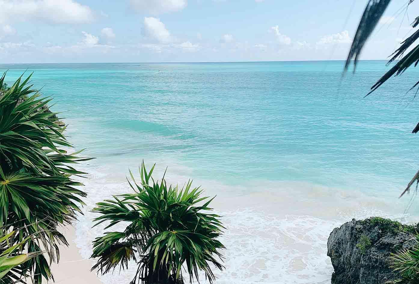 tulum beach ocean