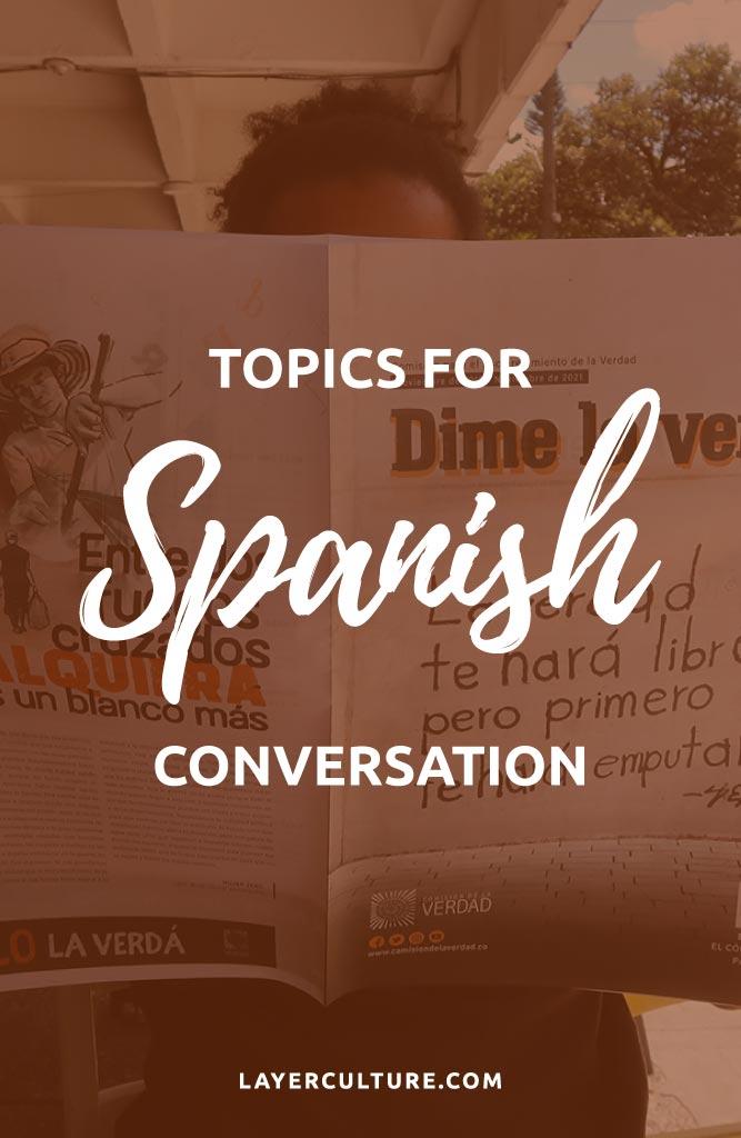 spanish conversation topics pin