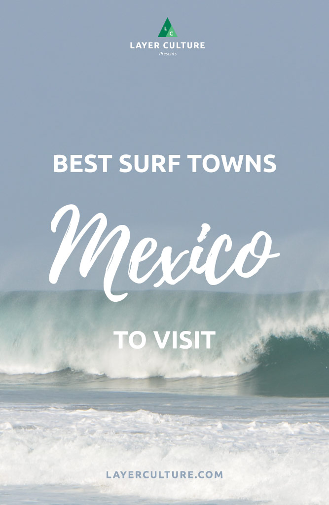mexico surf towns