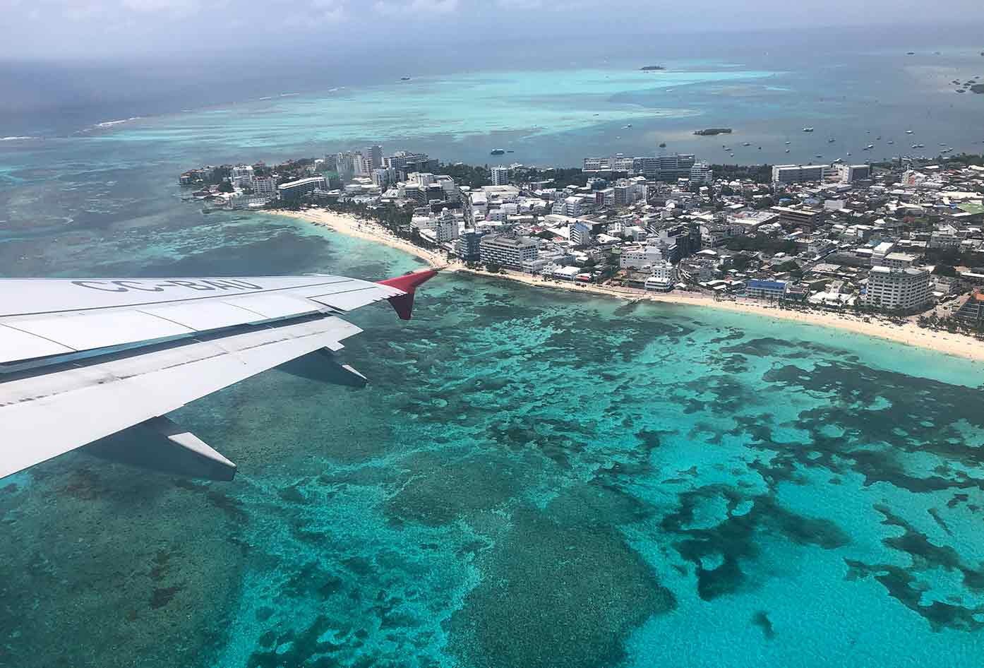 san andres aerial view